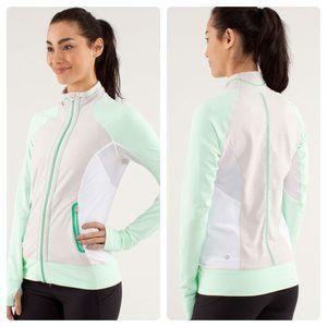 Lululemon Run: Beach Runner Jacket - Beige / Green